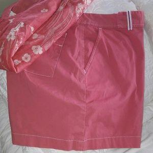 Lee Riveted Khakis Pink Shorts 14M